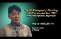 Health Emergency Planning for Yolanda-Affected LGUs: A Multidisciplinary Approach