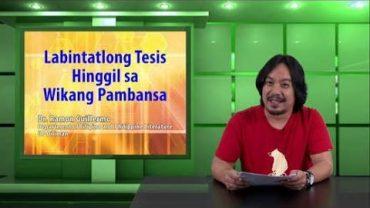 Labintatlong Tesis Hinggil sa Wikang Pambansa