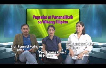 Pagsulat at Pananaliksik sa Wikang Filipino