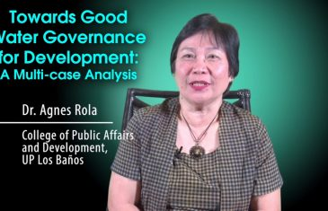 Towards Good Water Governance for Development