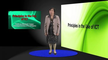 Principles in the Use of ICT | Dr. Brenda B. Corpuz