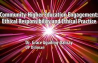 UP TALKS | Community-Higher Education Engagement: Ethical Responsibility and Ethical Practice