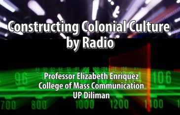 UP TALKS | Constructing Colonial Culture by Radio