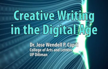 UP TALKS | Creative Writing in the Digital Age