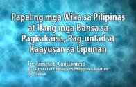 UP TALKS | Papel ng mga Wika sa Pilipinas