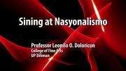 UP TALKS | Sining at Nasyonalismo
