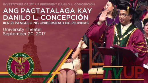 Ang Pagtatalaga kay Danilo L. Concepción, ika-21 Pangulo ng Unibersidad ng Pilipinas