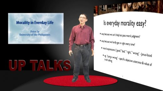 Morality in Everyday Life   Dr. Peter Sy