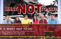 RISK REDUCTION AND MANAGEMENT   Episode 02: What NOT to Do