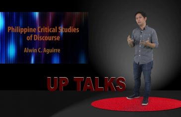 UP TALKS | Philippine Critical Studies of Discourse | Dr. Alwin C. Aguirre