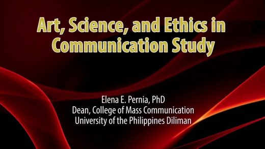 UP TALKS | Art, Science and Ethics in Communication Study
