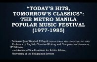 UP TALKS | The Metro Manila Popular Music Festival (1977-1985)
