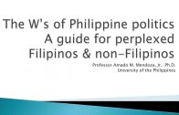 UP TALKS | The W's of Philippine Politics