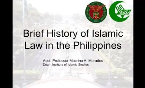 UP TALKS | Brief History of Islamic Law in the Philippines | Macrina Morados