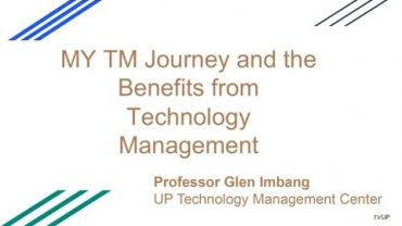 UP TALKS | The Scope of Technology Management and Its Benefits for the Philippines | Prof. Glen Imbang
