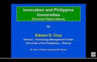 UP TALKS | Innovation and Philippine Universities | Prof. Edison Cruz