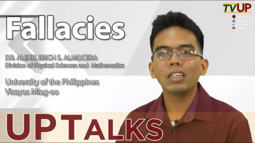 UP TALKS | Fallacies | Prof Alexis Erich Almocera