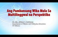 Ang Pambansang Wika mula sa Multilinggwal na Perspektiba