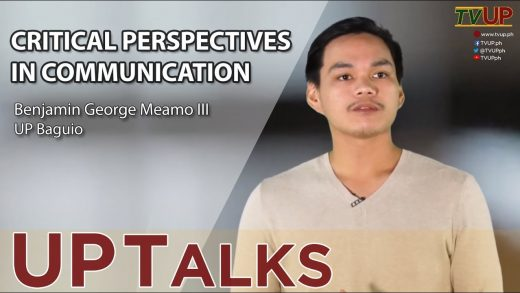 UP TALKS | Critical Perspectives in Communication