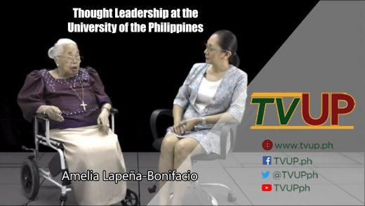 Thought Leadership at the University of the Philippines | Amelia Lapeña-Bonifacio