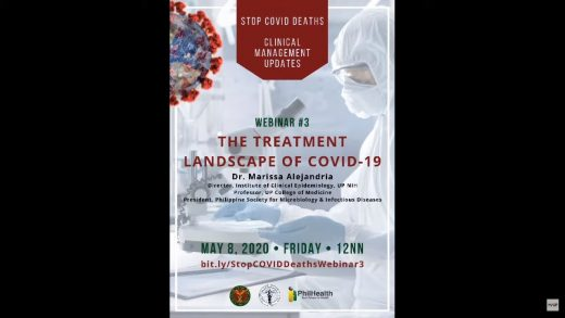Webinar #3: Stop COVID Deaths: Clinical Management Updates | The Treatment Landscape of COVID-19