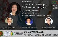 Webinar #12   COVID-19 Challenges for Anesthesiologists