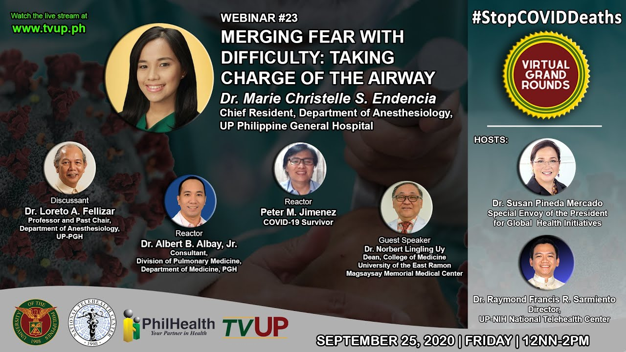 "Webinar #23 | ""Merging Fear with Difficulty: Taking Charge of the Airway"""