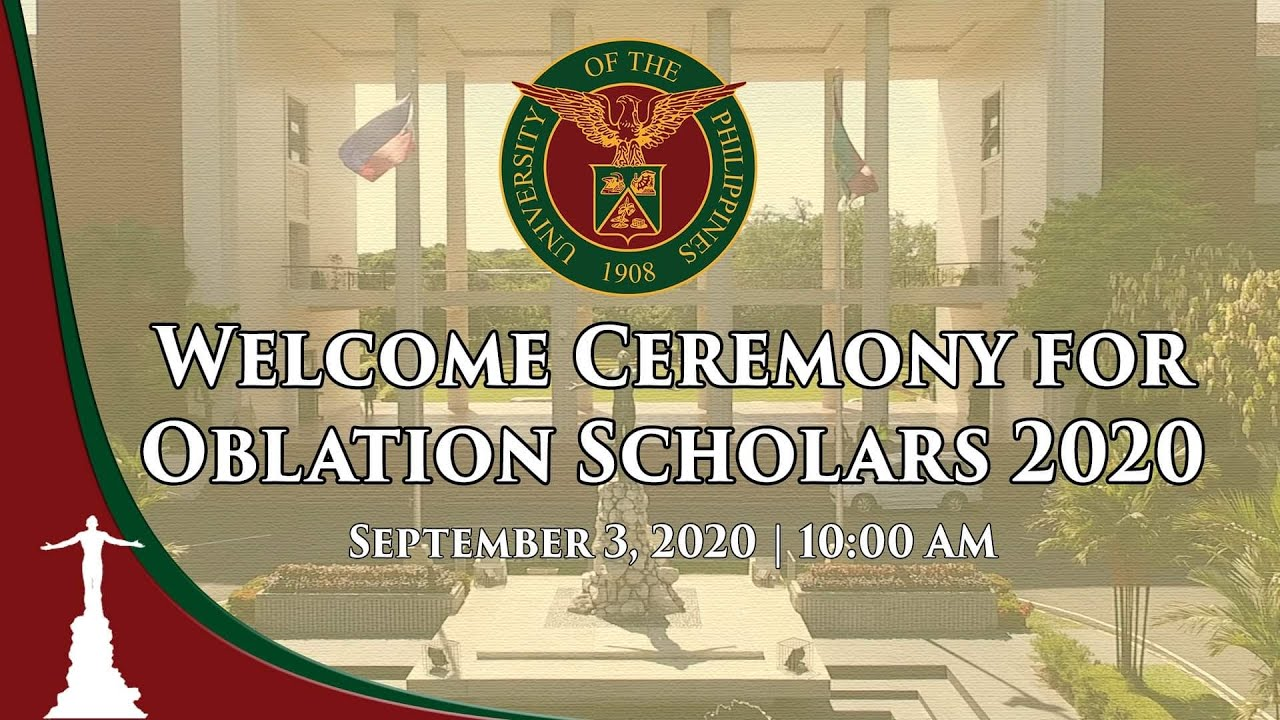 Welcome Ceremony for Oblation Scholars 2020