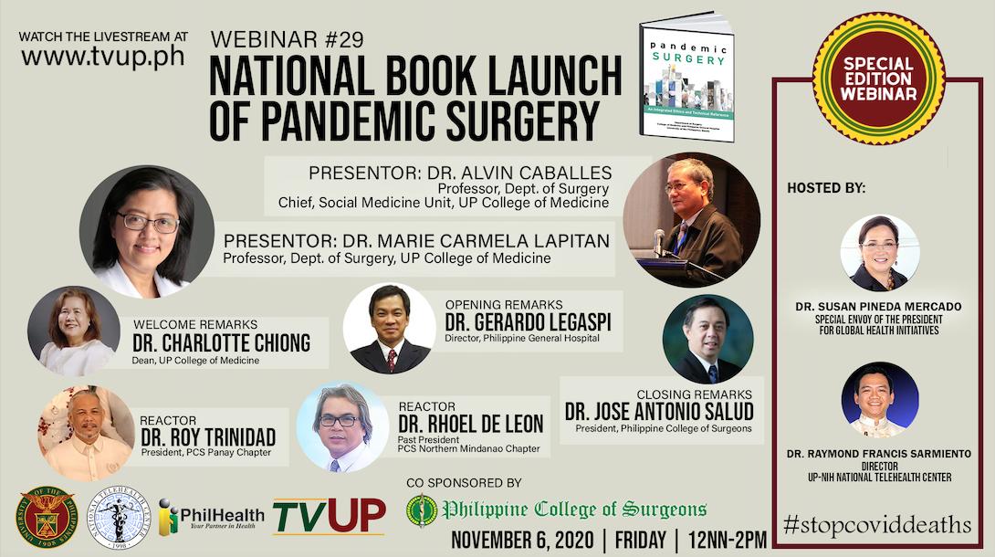 Webinar #29 | National Book Launch of Pandemic Surgery