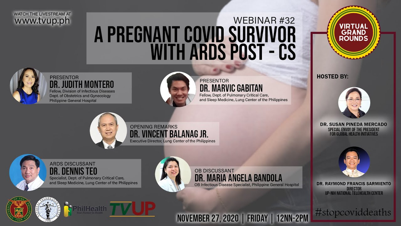 "Webinar #32 | ""A Pregnant COVID Survivor with ARDS Post-CS"""