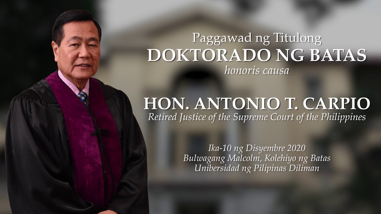 Honoris Causa Conferment Ceremony | Ambassador Edgardo B. Espiritu