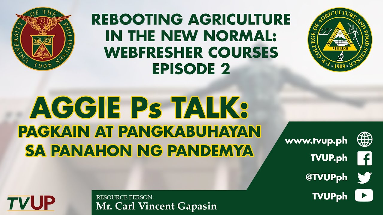 Rebooting Agriculture in the New Normal: Webfresher Courses | Episode 2