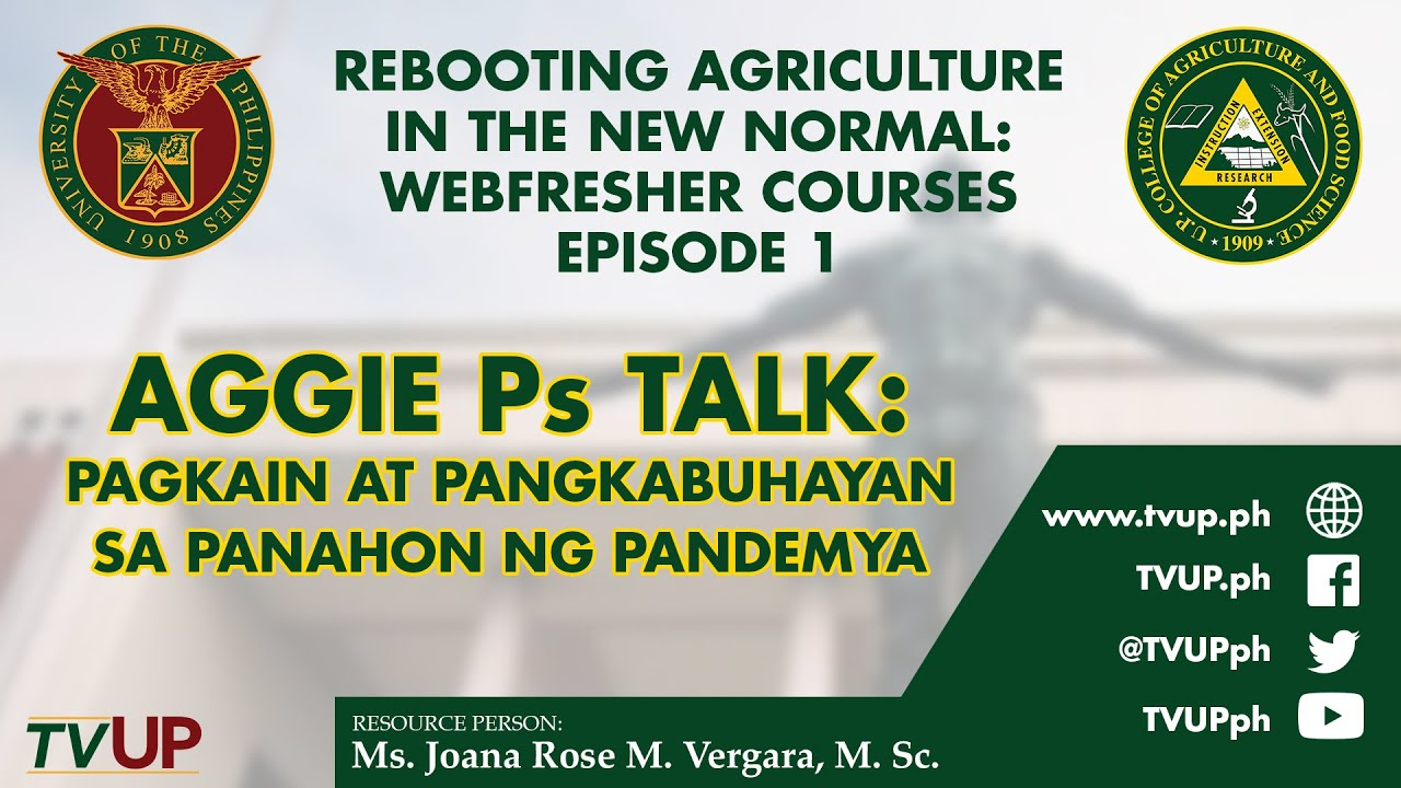Rebooting Agriculture in the New Normal: Webfresher Courses | Episode 1