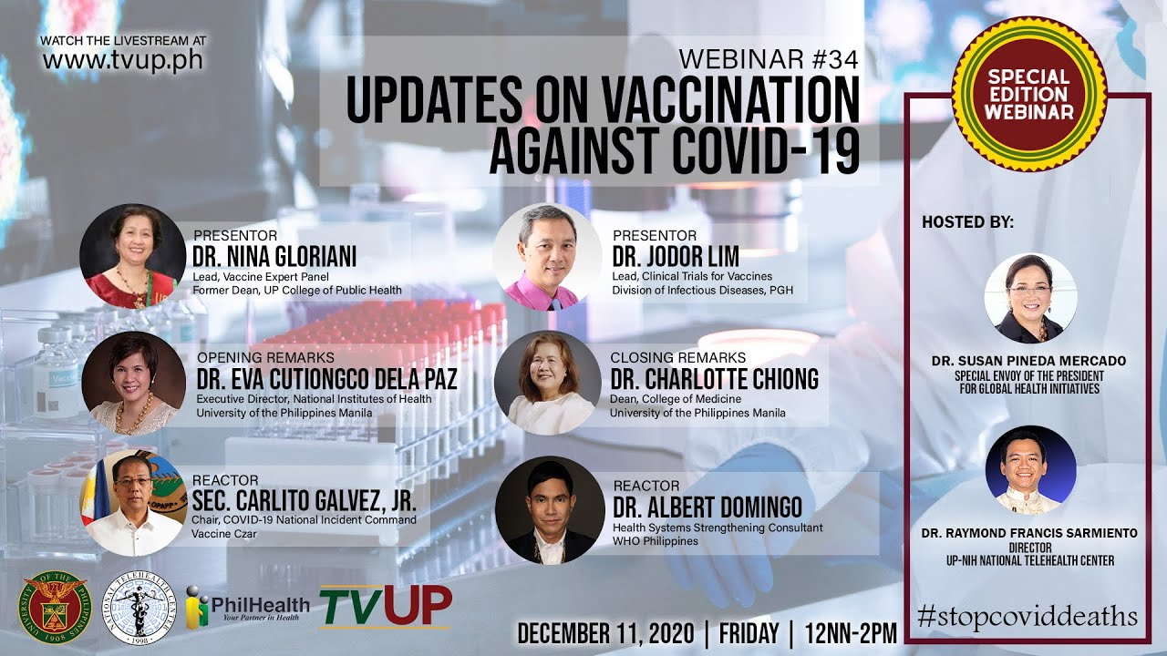 "Webinar #34 | ""Updates on Vaccination Against COVID-19"""