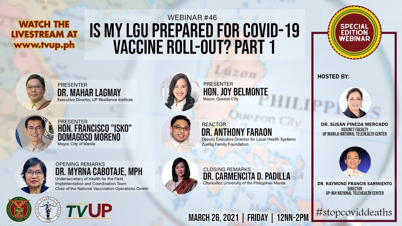 "Webinar #46 | ""Is my LGU Prepared for COVID-19 Vaccine Roll-out? Part 1"""