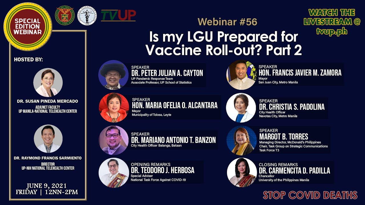 Webinar #56 | Is my LGU Prepared for Vaccine Roll-out? Part 2