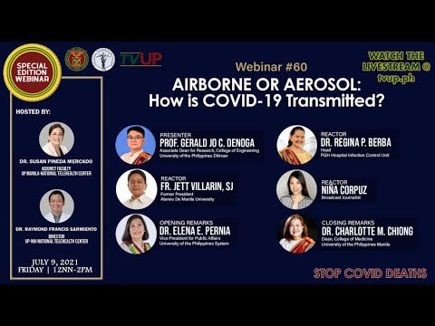 "Webinar #60 | ""AIRBORNE OR AEROSOL: How is COVID-19 Transmitted?"""