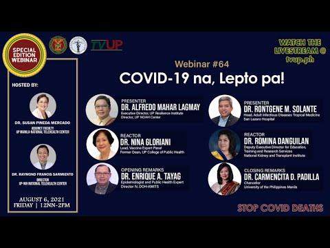 "Webinar #64 | ""COVID-19 na, Lepto pa!"""