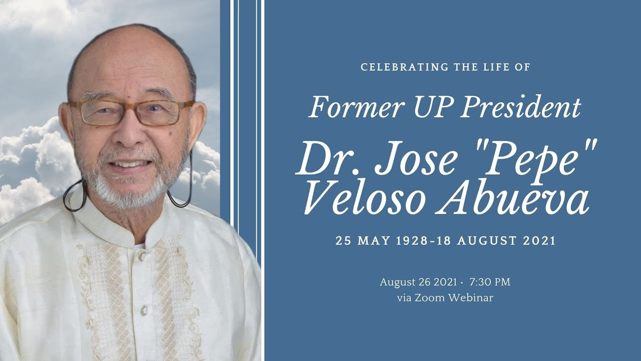 Tribute to former UP President Jose V. Abueva